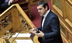 SYRIZA leader Tsipras speaks of an «unprecedented crisis»