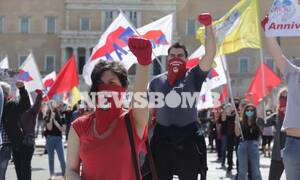 Symbolic rally at Syntagma square for Labour Day concluded