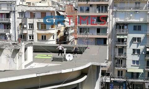Θεσσαλονίκη: Πρωτομαγιά με ψησταριές και γυμναστική στις ταράτσες (pics+vid)