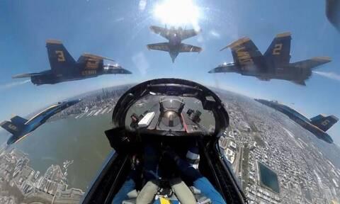 Ετσι βλέπουν τον... κόσμοι οι πιλότοι των μαχητικών αεροσκαφών! (video)