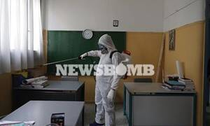 Ρεπορτάζ Newsbomb.gr: Έτοιμα να ανοίξουν τα σχολεία - Απολύμανση σε όλους τους χώρους