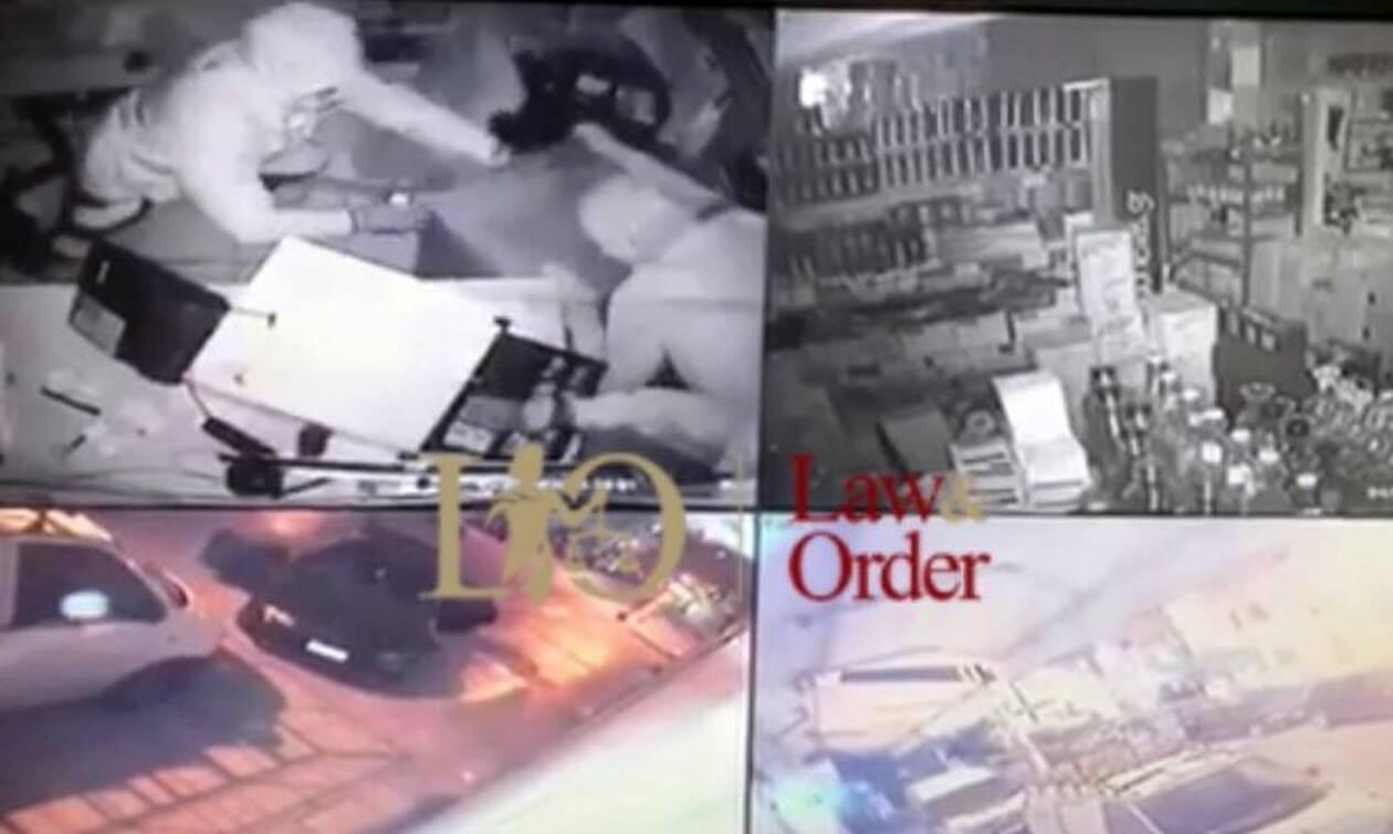 Έτσι «σήκωσαν» χρηματοκιβώτιο από σούπερ μάρκετ στα Καμίνια - Καρέ-καρέ η δράση των διαρρηκτών