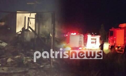 Αμαλιάδα: Έβαλε φωτιά στην… καλύβα του