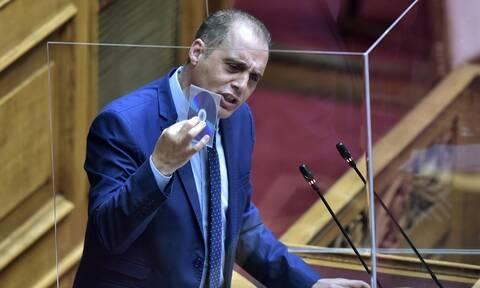Χαμός στη Βουλή: «Φυτευτός της ΝΔ ο Τσιόδρας» - Απίστευτες εκφράσεις από Βελόπουλο