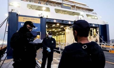 Запрет на морское сообщение между островами и материковой частью Греции продлен до 18 мая