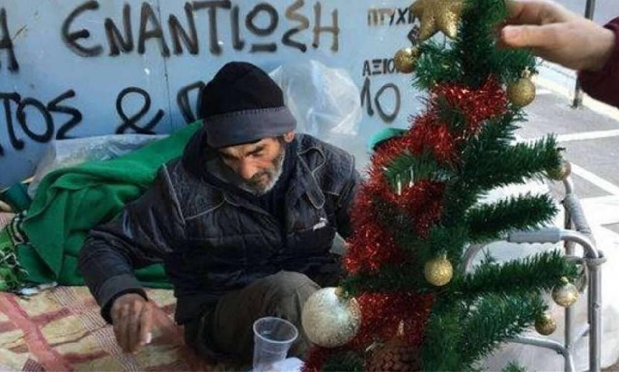Θλίψη: Πέθανε ο άστεγος της οδού Σταδίου
