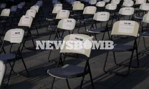 «Άδειες καρέκλες» σε Αθήνα, Θεσσαλονίκη, Πάτρα - Η συμβολική διαμαρτυρία του κλάδου της εστίασης
