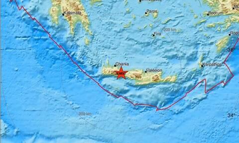 Σεισμός στην Κρήτη - Σεισμική δόνηση κοντά στα Σφακιά (pics)