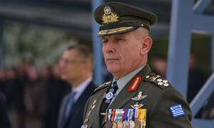 Greek armed forces chief Gen. Floros speaks with top NATO officials