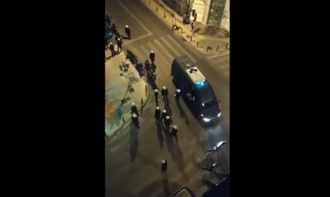 Five arrested and 37 detained following attack on police in Kypseli's Agiou Georgiou Square