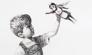 Banksy: Το νέο του έργο είναι εμπνευσμένο από τον κορονοϊό και έχει ήδη γίνει viral (pics)