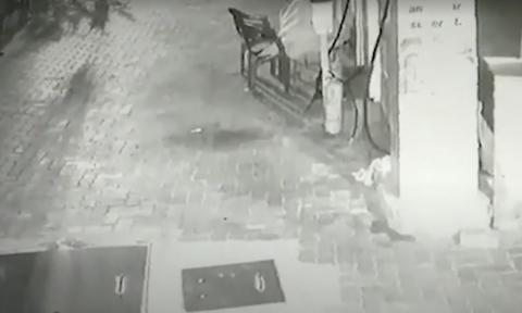 Κοιμόταν στη δουλειά του και δέχθηκε μία σοκαριστική… επίσκεψη (video)