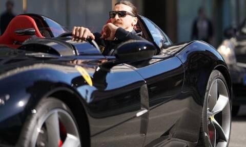 Μπελάδες για τον Ζλάταν: Κυκλοφορούσε παράνομα τη Ferrari του (pics & vid)