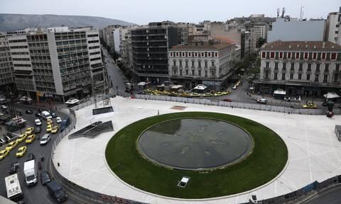 Η Ομόνοια παίρνει ζωή: Ανοίγει η νέα πλατεία  με το εντυπωσιακό σιντριβάνι - Δείτε το βίντεο