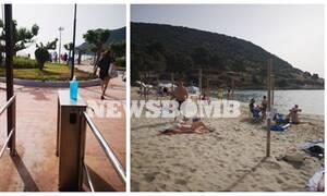 Ανοικτές παραλίες - Το Newsbomb.gr στο Πόρτο Ράφτη: Ανάσες δροσιάς και ελευθερίας για τους πολίτες