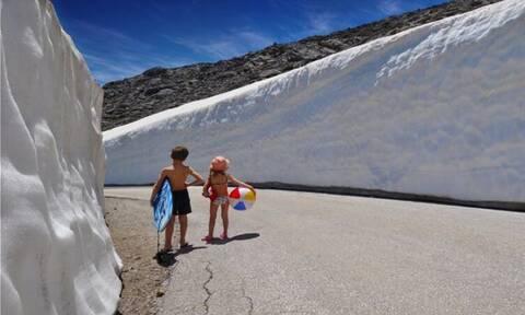 Η χιονισμένη Κρήτη έγινε... viral!