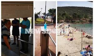 Ρεπορτάζ Newsbomb.gr: Κατέβασε ρολά παραλία στο Πόρτο Ράφτη - Γέμισε με 250 άτομα