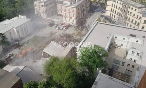 Αλβανία: Χάος στα Τίρανα με επεισόδια για την κατεδάφιση του Εθνικού Θεάτρου