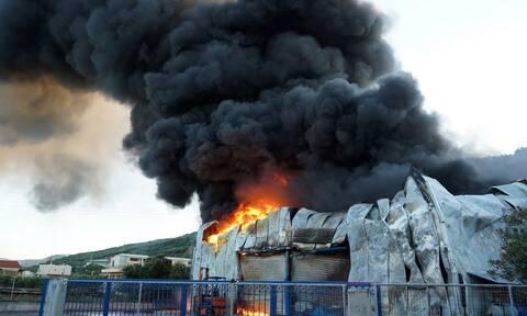Αττική: Φωτιά σε χώρο ανακύκλωσης στη Μάνδρα
