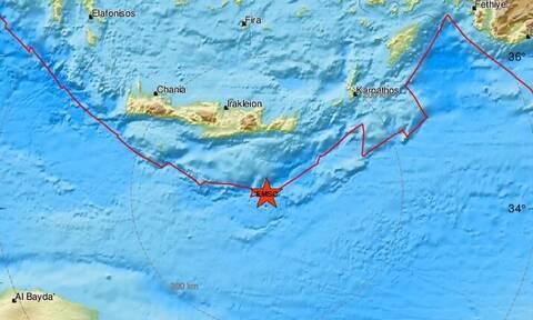 Σεισμός: Νέα σεισμική δόνηση νότια της Κρήτης