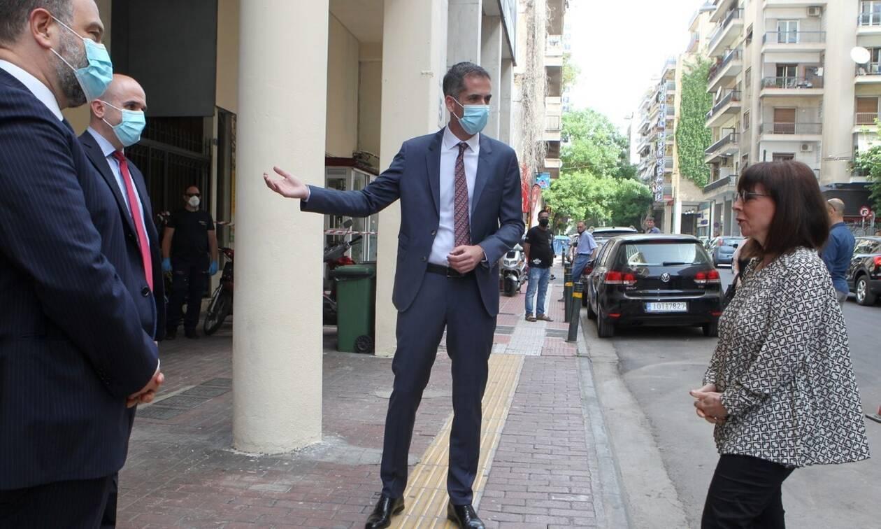 Η Πρόεδρος της Δημοκρατίας στο Πολυδύναμο Κέντρο Αστέγων του Δήμου Αθηναίων