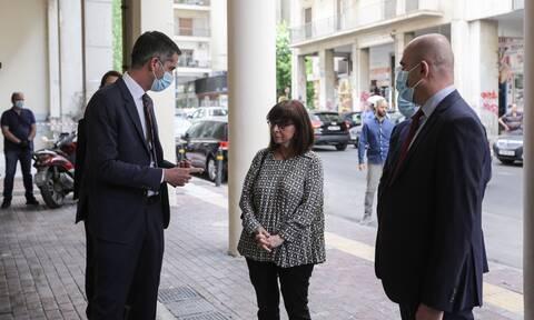 Κατερίνα Σακελλαροπούλου: Επίσκεψη της ΠτΔ στο Πολυδύναμο Κέντρο Αστέγων