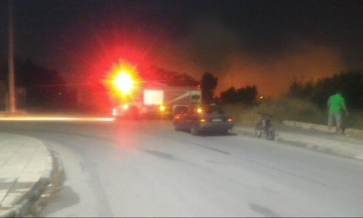 Έβαλαν φωτιά κοντά στο κλειστό της Πάλης στα Άνω Λιόσια (photos)