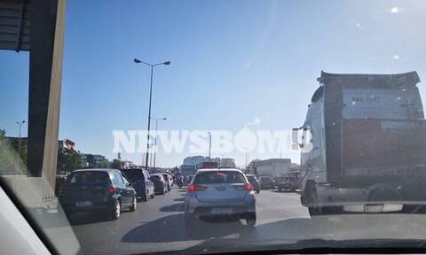Τροχαίο ατύχημα στην Εθνική Οδό Αθηνών-Λαμίας - Ουρές χιλιομέτρων (pics)