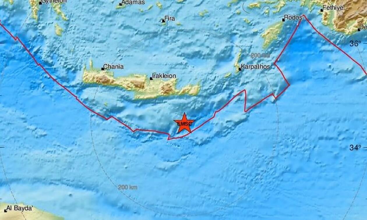 Σεισμός 4,6 Ρίχτερ στην Κρήτη - Ανοιχτά της Ιεράπετρας το επίκεντρο