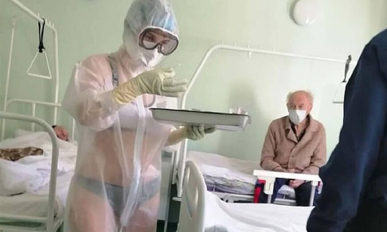 Σάλος: Νοσοκόμα τα πέταξε όλα - Οι φωτογραφίες που κάνουν το γύρο του διαδικτύου