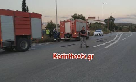 Τροχαίο στην Κόρινθο: Καρέ-καρέ η επιχείρηση απεγκλωβισμού (pics&vid)