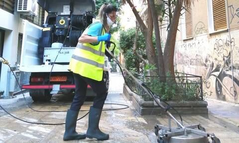 Δράση καθαριότητας του Δήμου Αθηναίων στη Νεάπολη Εξαρχείων (pics)
