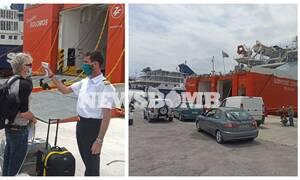 Ρεπορτάζ Newsbomb.gr: Ταξίδι προς τα νησιά με... ευλαβική προσοχή! Αυστηρά μέτρα στον Πειραιά