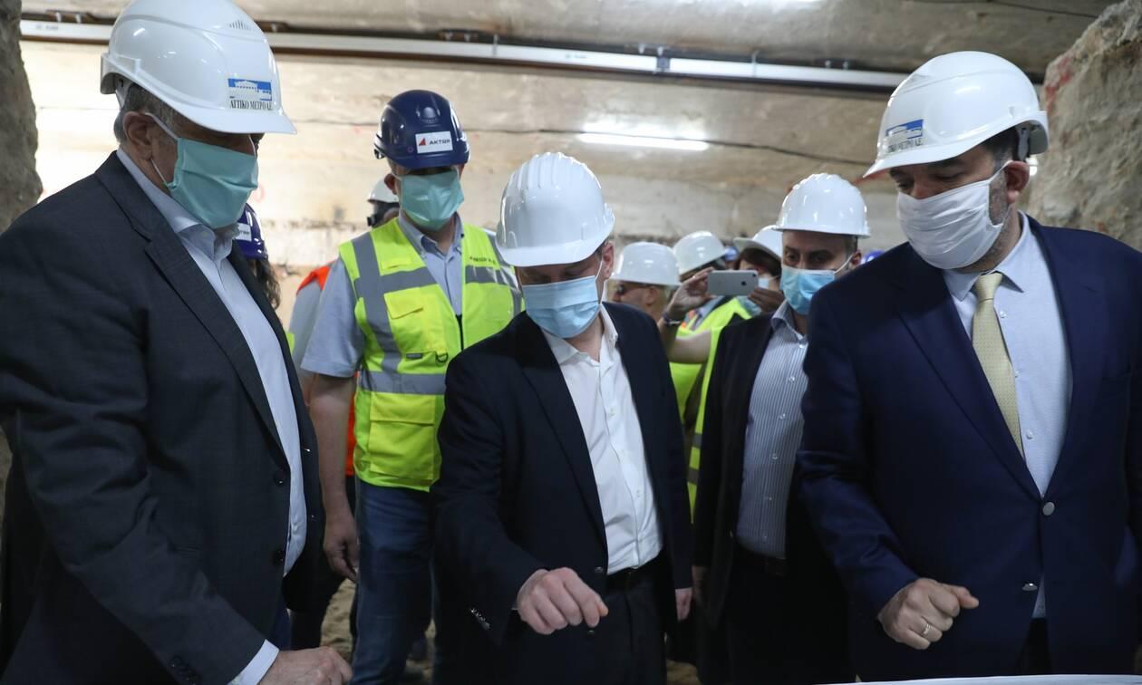 Στο Μετρό Θεσσαλονίκης η ηγεσία του Υπουργείου Υποδομών και Μεταφορών