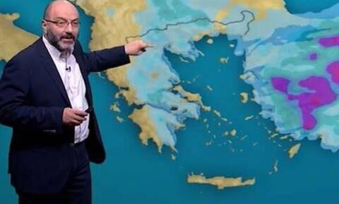 Αρναούτογλου: Τετραήμερη κακοκαιρία με έντονες καταιγίδες. Πού θα χιονίσει την Τρίτη; (video)