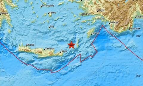 Σεισμός: Διπλή σεισμική δόνηση κοντά στην Κάσο (pics)