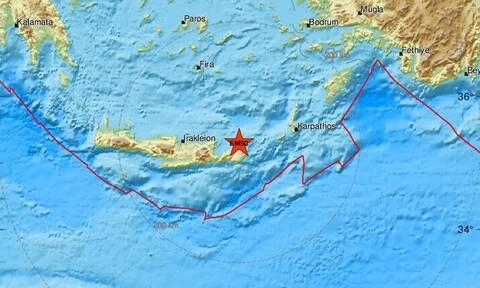 Σεισμός στην Κρήτη - Κοντά στη Σητεία το επίκεντρο (pics)