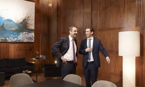 Τηλεδιάσκεψη του καγκελάριου Κουρτς με τον Έλληνα πρωθυπουργό και άλλους αρχηγούς κυβερνήσεων