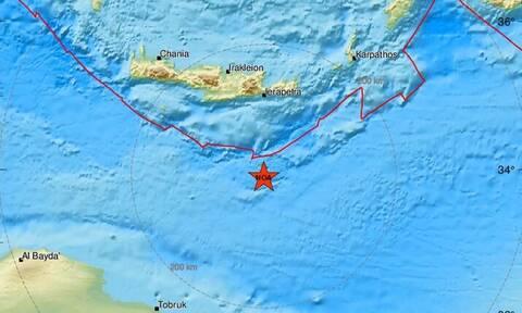 Σεισμός κοντά στην Κρήτη: Ισχυρή σεισμική δόνηση νότια της Ιεράπετρας (pics)
