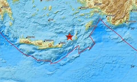 Σεισμός κοντά στην Κάσο (pics)