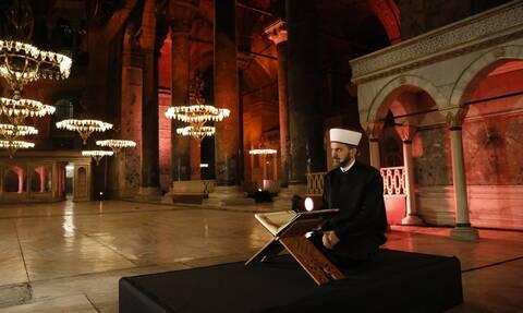 Προκλητικός ο εκπρόσωπος του Ερντογάν: Το πνεύμα της κατάκτησης κράτησε όρθια την Αγιά Σοφιά