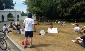Ιρλανδία: Διαδηλώσεις στο Δουβλίνο για τον θάνατο του Τζορτζ Φλόιντ