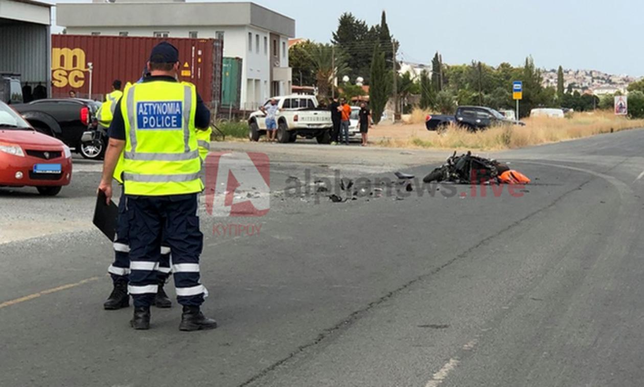 Κύπρος: Σοβαρό τροχαίο ατύχημα με μοτοσικλέτα στη Λεμεσό (pics)