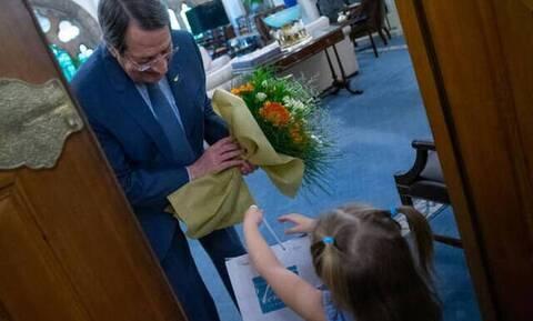 Κύπρος: Η μικρή Μαρία πήγε τελικά στον ΠτΔ (pics)