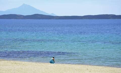 Χαλκιδική: Γέμισε... λεκάνες περιοχή κοντά στην παραλία (video)
