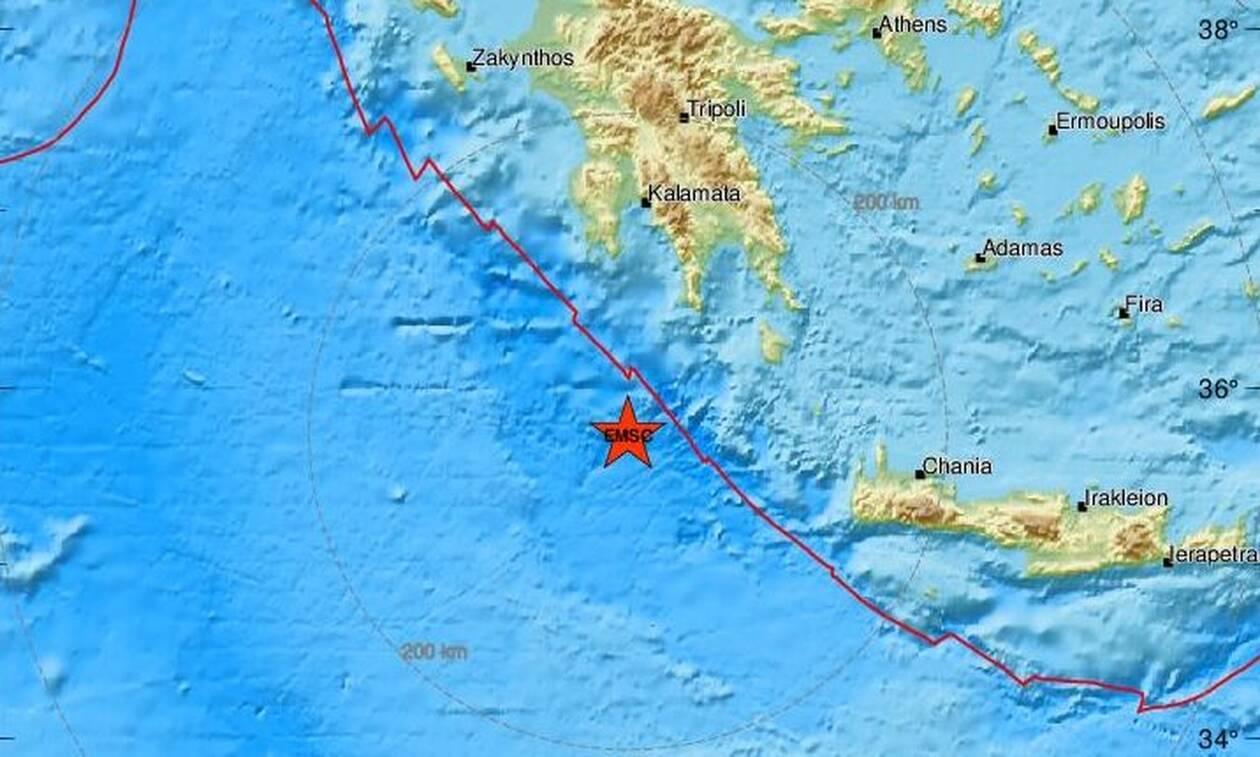 Σεισμός ΤΩΡΑ νότια της Πελοπονήσσου (pics)