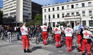 Ο Ελληνικός Ερυθρός Σταυρός στον ποδηλατικό περίπατο του Δήμου Αθηναίων – Δωρεά μασκών από την Κίνα