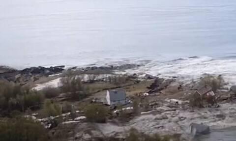 Νορβηγία: Τρομακτική ολίσθηση του εδάφους - Σπίτια κατέληξαν στη θάλασσα
