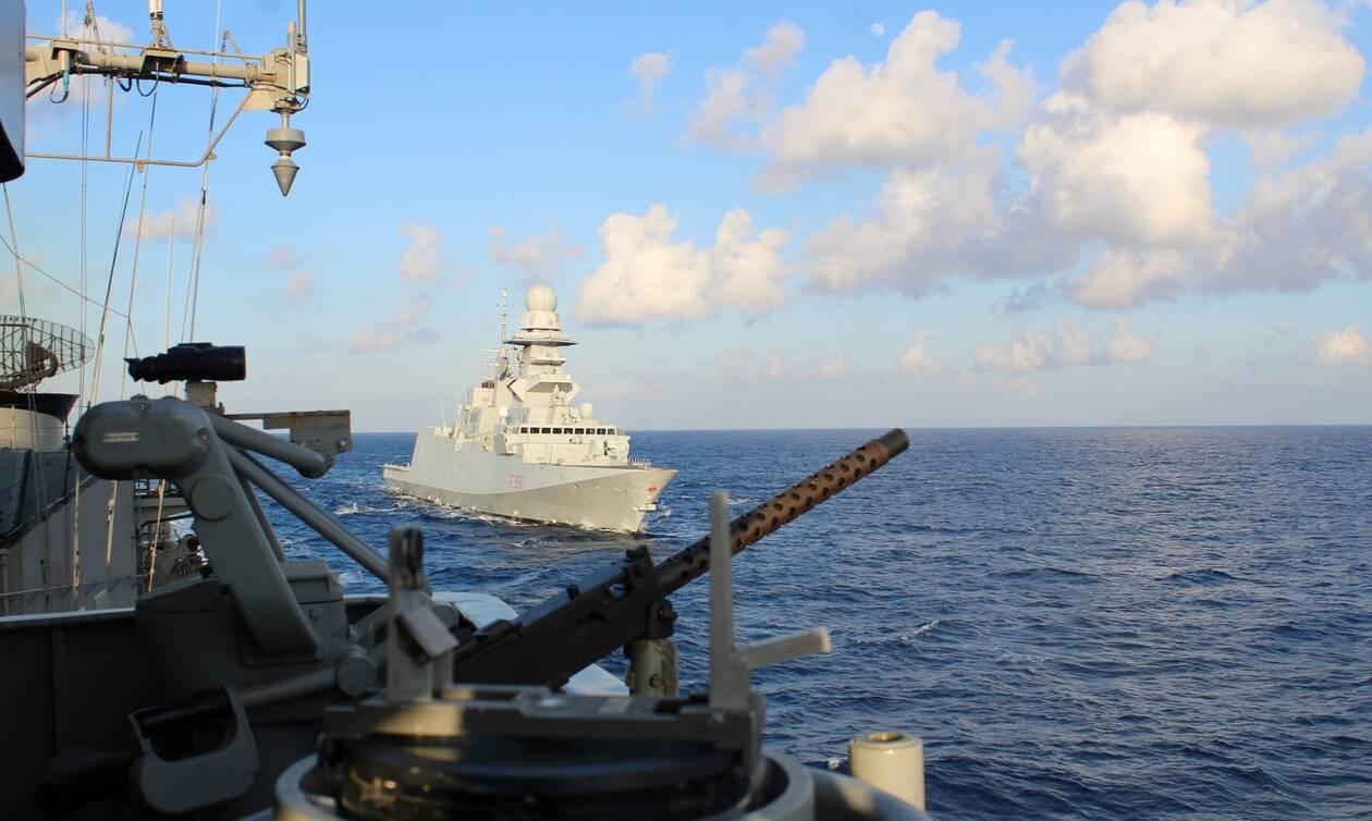 Πολεμικό Ναυτικό: Συνεκπαίδευση ελληνικής και ιταλικής φρεγάτας