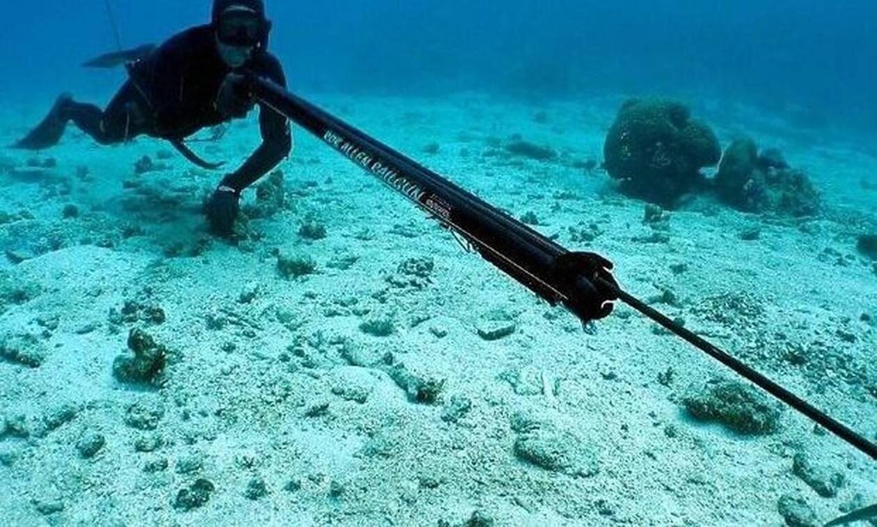 Ψαροντουφεκάς ζει τον απόλυτο τρόμο στο βυθό της θάλασσας! (video)